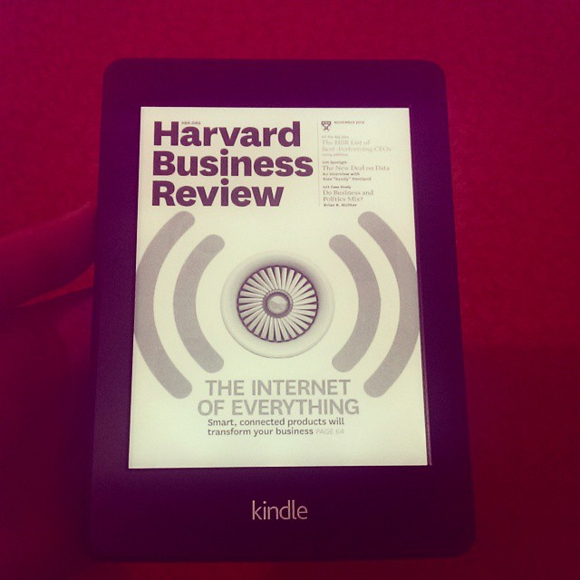 Kindle'da dergi okuma keyfi... #kindle #dergi #magazine #read #oku #okuma #paperwhite #paperwhite2 #harvardbusinessreview