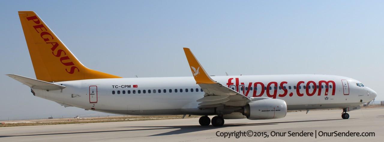 pegasus havayollari – tc-cpm – boeing 737-800 – onur sendere