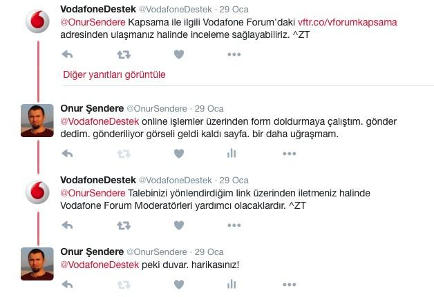 Vodafone Destek – Twitter