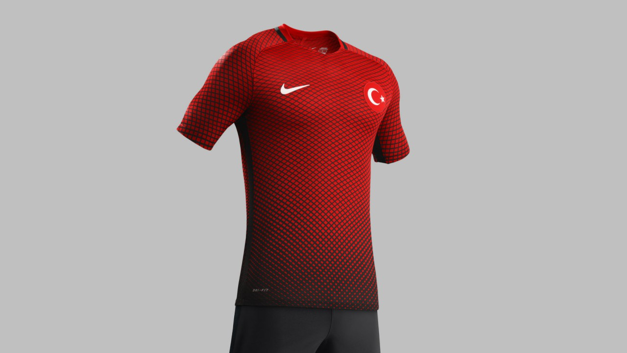 turkiye milli takım forma euro 2016 siyah kirmizi