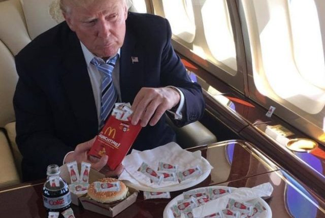 donald trump diet coke